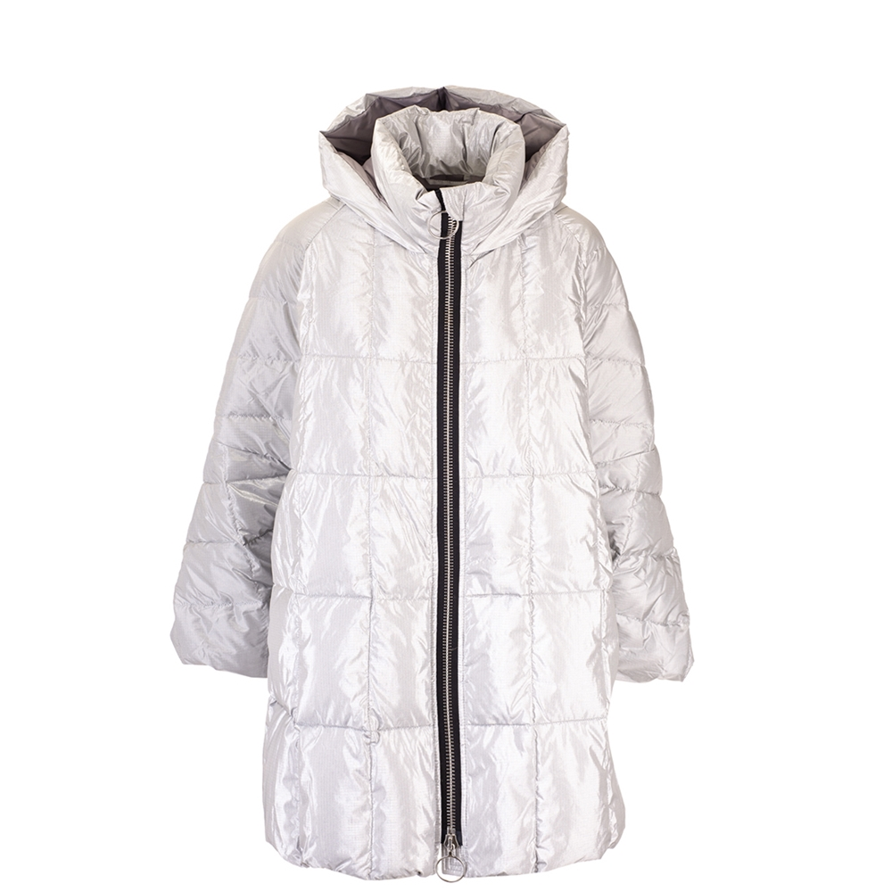 Down jackets | CROPPED PYRAMIDEELECTRIC SILVER