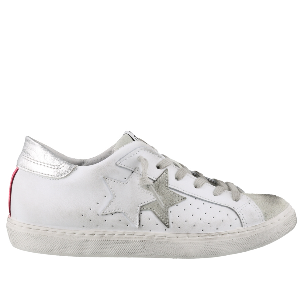 Low Top | 2606BIANCO FUXIA