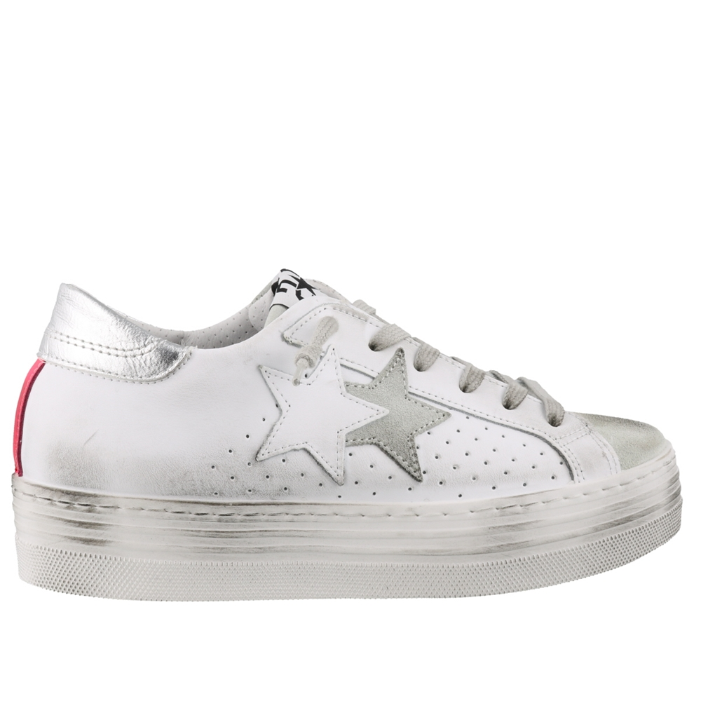 Low Top | 2644BIANCO FUXIA