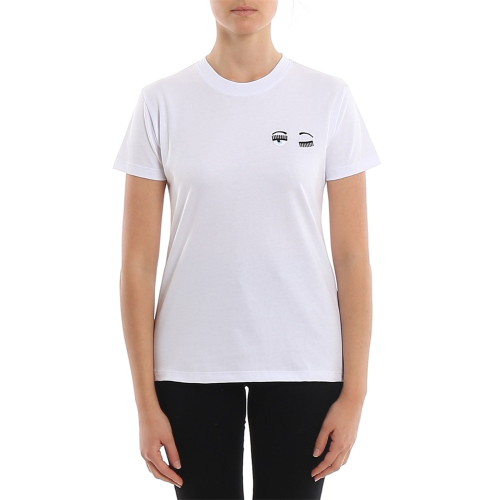 Short sleeves. | CFT100BIANCO