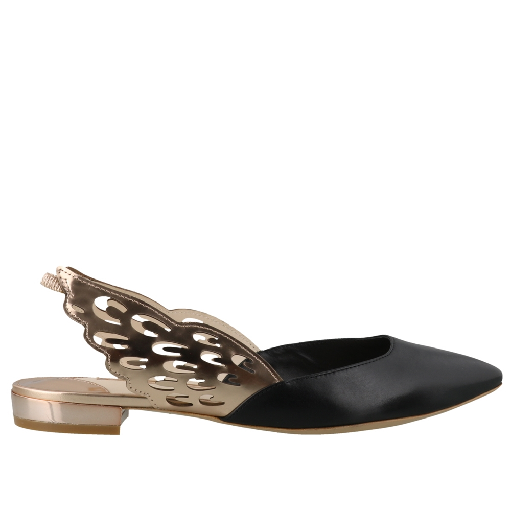 Mules | ANGELO FLAT SPS20154BLACK & ROSE GOLD