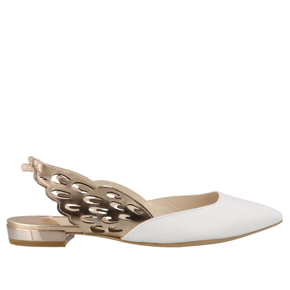 Mules | ANGELO FLAT SPS20155WHITE & ROSE GOLD