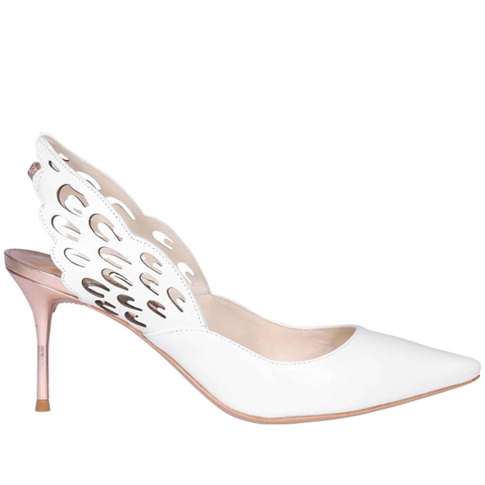 Mid Heel | ANGELO MID SLINGBACK SWCC15007WHITE ROSE GOLD