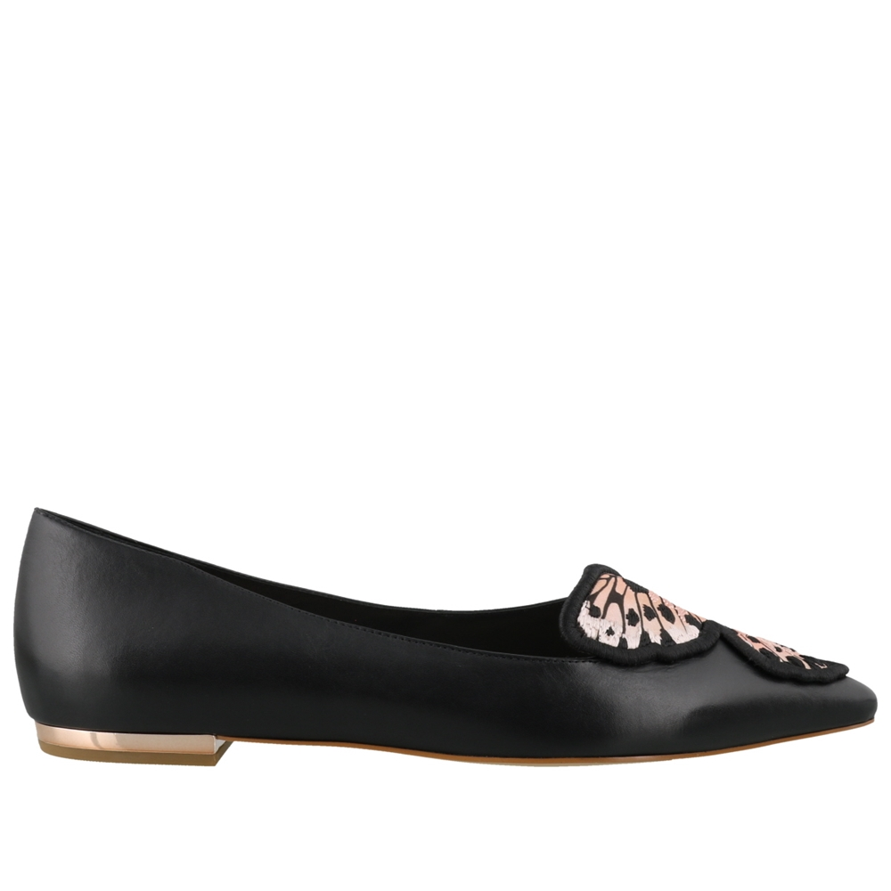 Ballets | BUTTERFLY EMBROIDERY FLAT SPS20087BLACK & NUDE