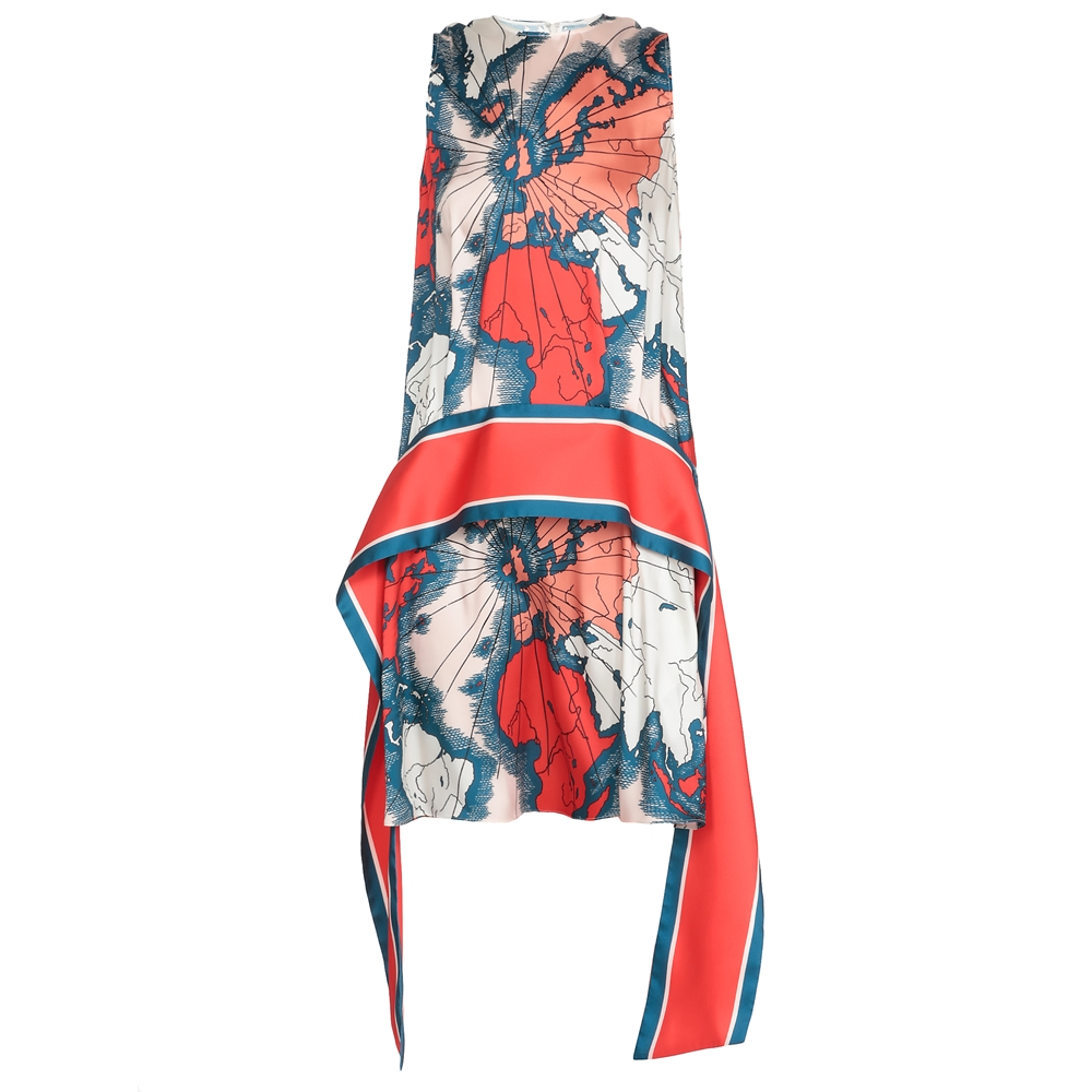 Mini. | 2120WDR000489AMAP PRINTMap Print- Red/multi