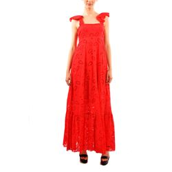 red frilled dress
