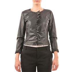 black faux-leather jackets