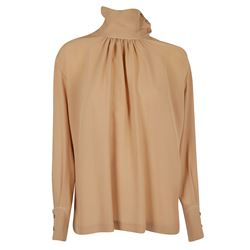 NUDE TOP WITH SLEEVES