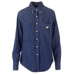 denim logoed shirt
