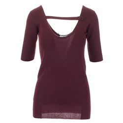 top bordeaux in seta a cashmere