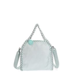 clear blue mini falabella bag