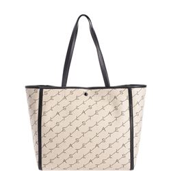 beige monogram shoulder bag