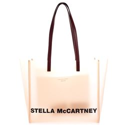 pink pvc shopping bag