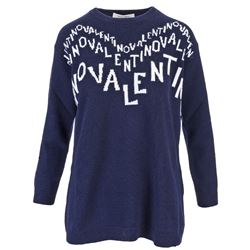 blue cashmere embroidered sweater