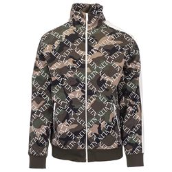 camo logod jacket with zip