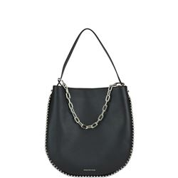 hobo bag nera in pelle