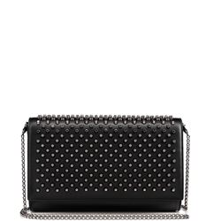 leather studded paloma clutch