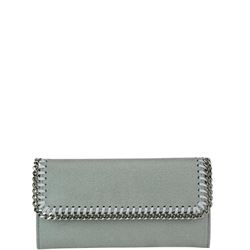grey flap wallet