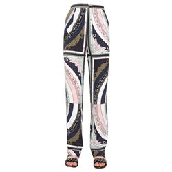 silk patterned trousers