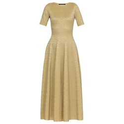 gold  dress with lurex embroideries