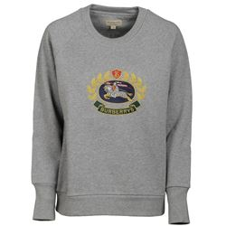 embroidered grey sweatshirt