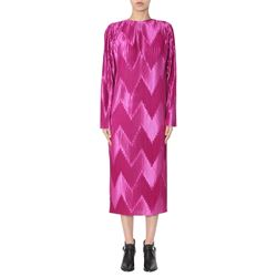 violet pleated dress