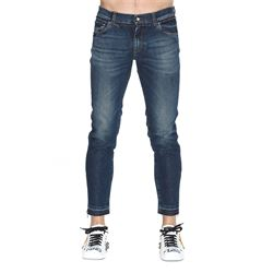 denim cropped jeans with patch