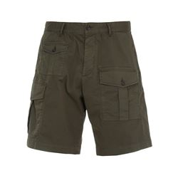green cotton bermuda short