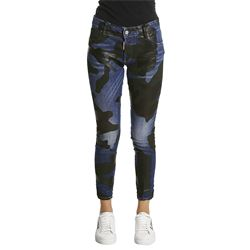 camouflage details jeans