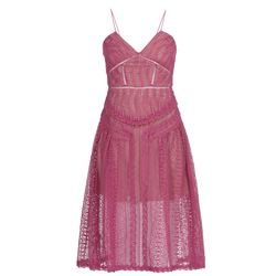 fuchsia lace dress