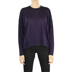 purple merino wool crewneck