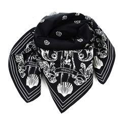 black cotton foulard