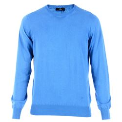 clear blue cotton sweater