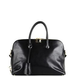 handbag nera in pelle
