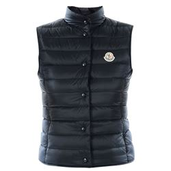 blue logoed gilet jacket