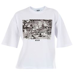 MSGM T-SHIRTS AND POLOS SHORT SLEEVED