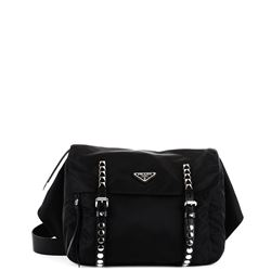 66089bbbbe5cbd Prada: Black nylon belt bag