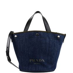 denim and leather handbag