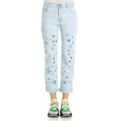 jeans cropped con stelle