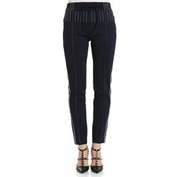 blue stretch trousers