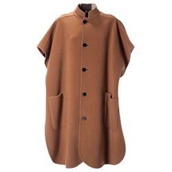 camel wool cape