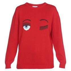 red flirting cotton sweater