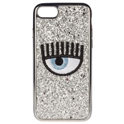 silver iphone 7/8 eye glitter cover