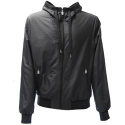 black zipped jacket with hood
