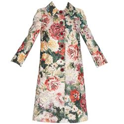 floral print overcoat