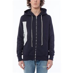 blue hooded sweatshirt with zip