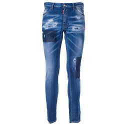 blue logoed jeans