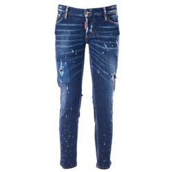 spotted effect denim jeans