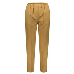beige linen and cotton trousers