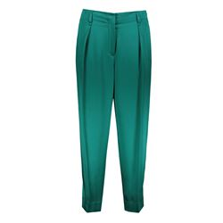 green satin and viscose trousers